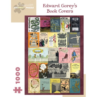 Pomegranate Edward Gorey's Book Covers 1000 Piece Jigsaw Puzzle