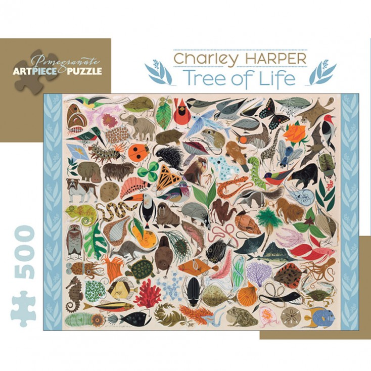 Pomegranate Charley Harper Tree of Life 500 Piece Jigsaw