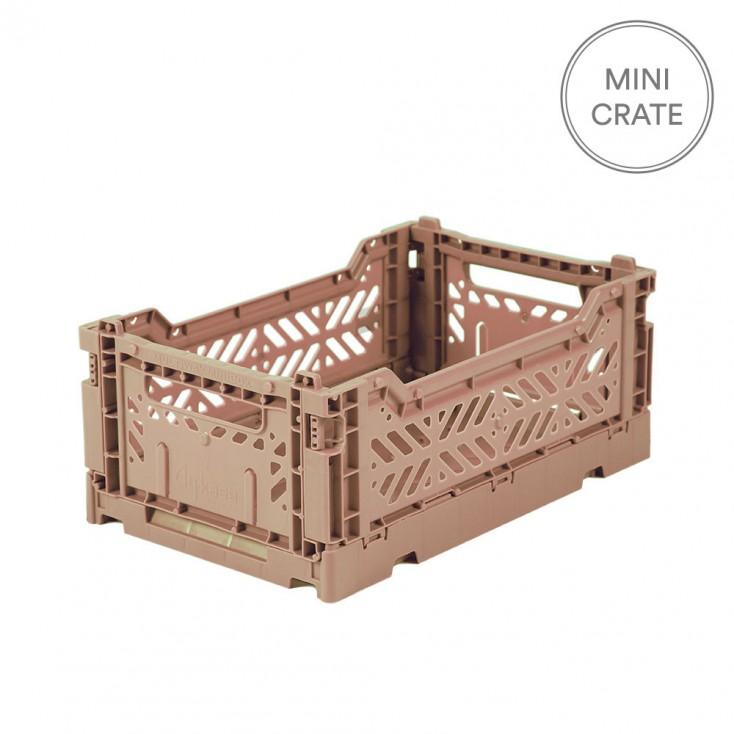 Aykasa Folding Crate Mini - Warm Taupe