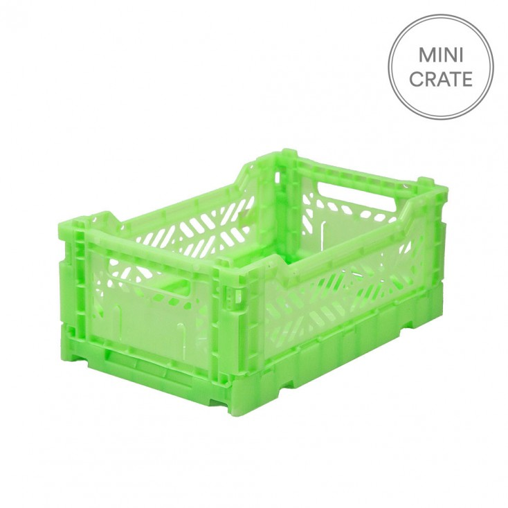 Aykasa Folding Crates Mini - Fluro Green