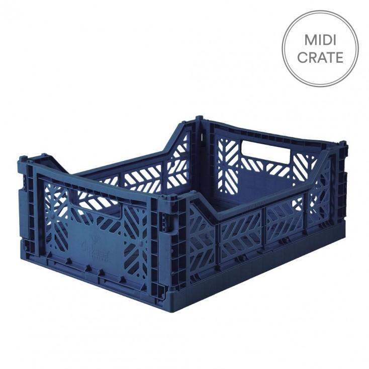Aykasa Folding Crate Midi - Navy