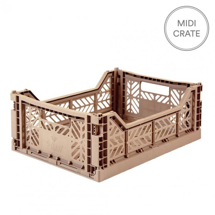 Aykasa Folding Crate Midi - Warm Taupe