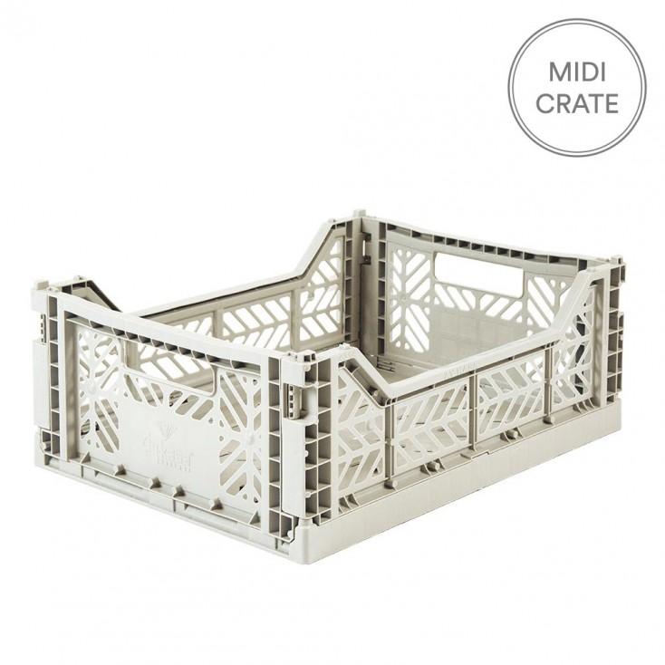 Aykasa Folding Crate Midi - Light Grey