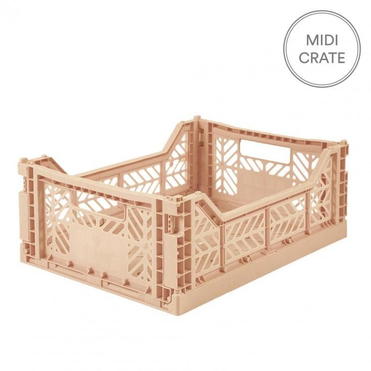 Aykasa Folding Crate Midi - Milk Tea