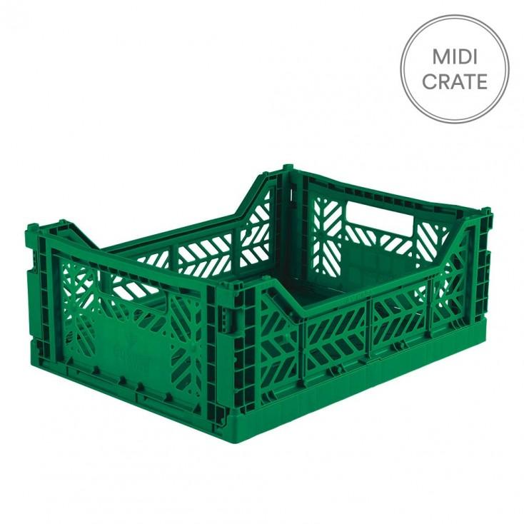 Aykasa Folding Crate Midi - Dark Green