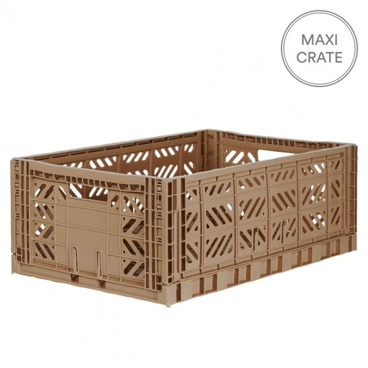 Aykasa Folding Crate Maxi - Warm Taupe