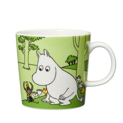 Arabia Moomin Mug - Moomintroll Grass Green