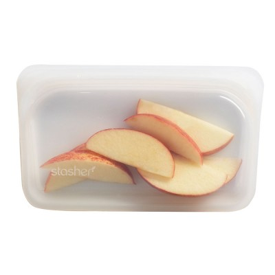 Stasher Silicone Snack Bag - Clear