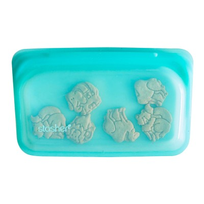Stasher Silicone Snack Bag - Aqua