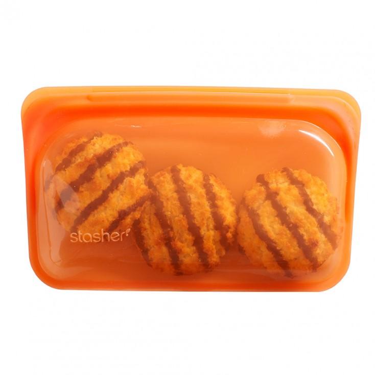 Stasher Silicone Snack Bag - Citrus