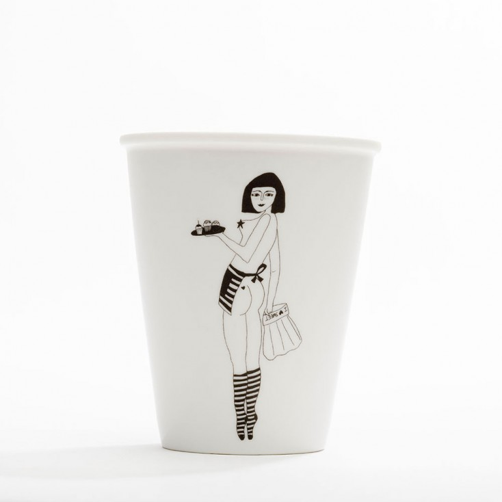 Helen B Porcelain Beaker - Cake Girl