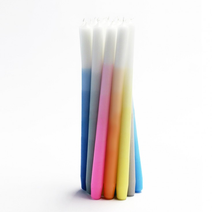 Gradient Candles - Set of Eight