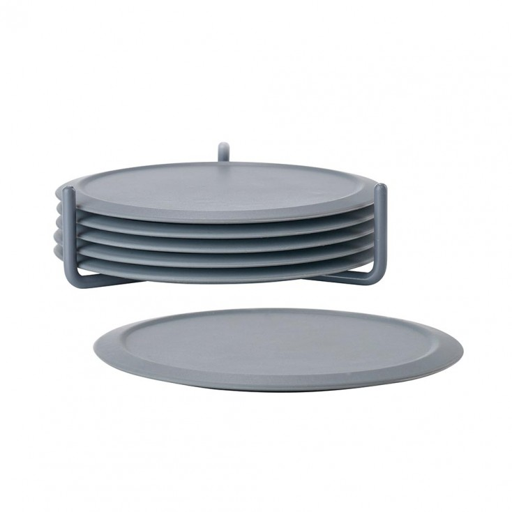 Zone Denmark Silicone Coasters - Set of Six - Cool Grey