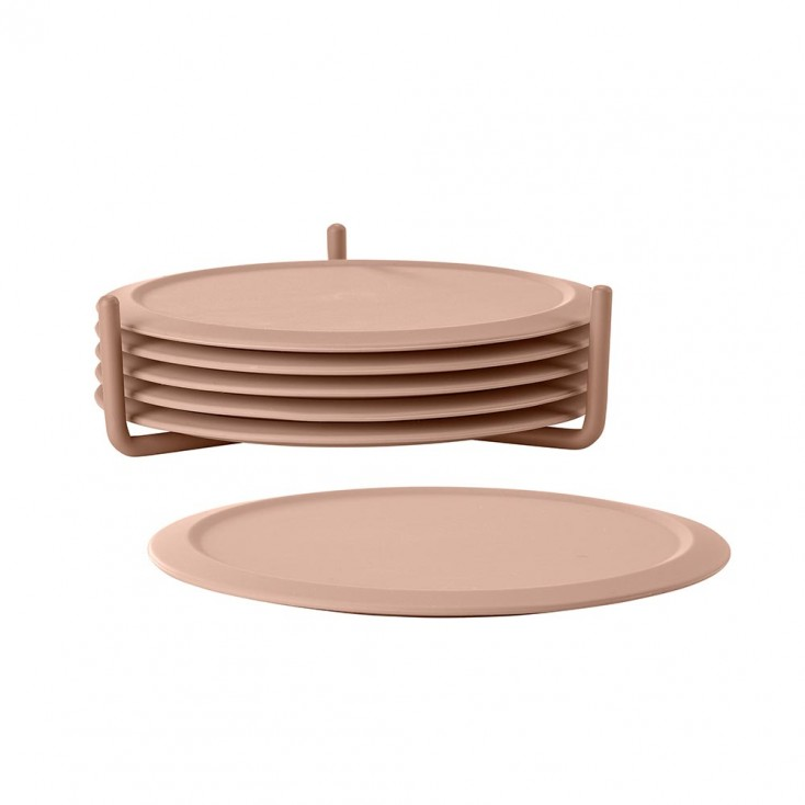 Zone Denmark Silicone Coasters - Set of Six - Nude