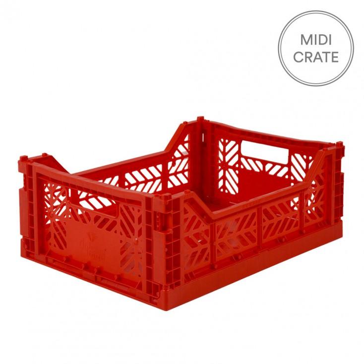 Aykasa Folding Crate Midi - Red