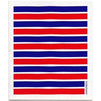 Jangneus Dishcloth - Blue & Red Stripe