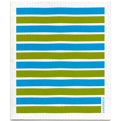 Jangneus Dishcloth - Turquoise & Green Stripe