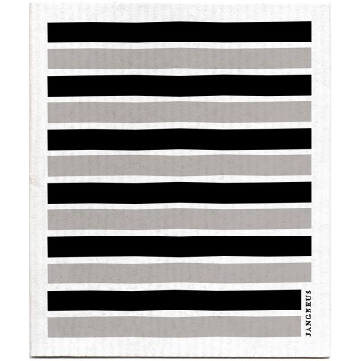 Jangneus Dishcloth - Black & Grey Stripe