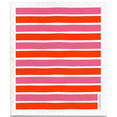 Jangneus Dishcloth - Pink & Orange Stripe
