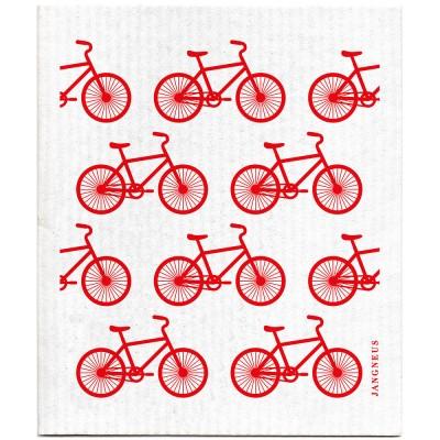 Jangneus Dishcloth - Red Bike