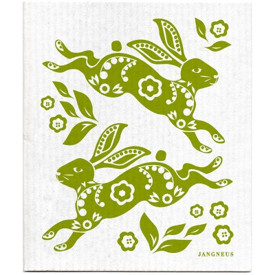Jangneus Dishcloth - Green Hare