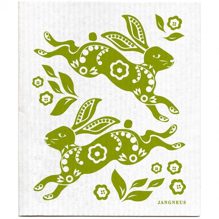 Jangneus Dishcloth - Green Hare