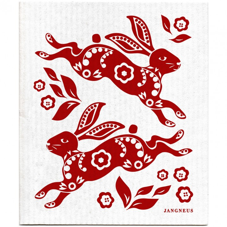 Jangneus Dishcloth - Red Hare