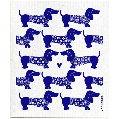 Jangneus Dishcloth - Blue Dachshund