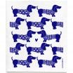 Jangneus Cellulose Dishcloth - Blue Dachshund