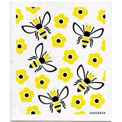 Jangneus Cellulose Dishcloth - Yellow Bees