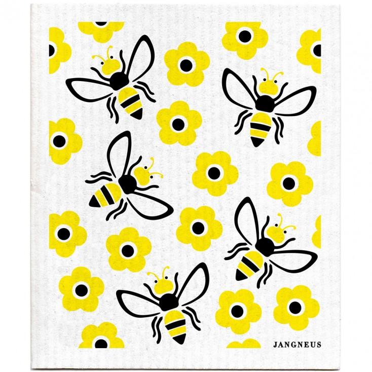 Jangneus Cellulose Dishcloth - Yellow Bees