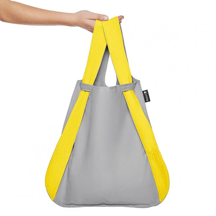 Notabag Transforming Tote - Yellow & Grey