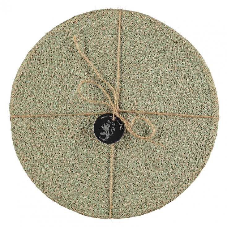 Jute Placemats Set Of Four - Limpid Green