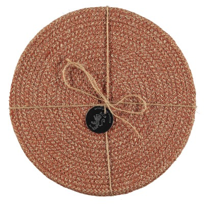 Jute Placemats Set Of Four - Brick Dust