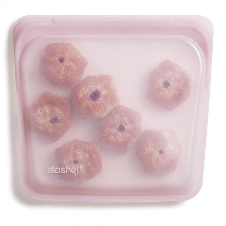 Stasher Silicone Sandwich Bag - Rose Quartz