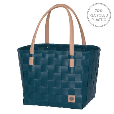 Handed By Colour Block Shopper - Midnight Blue