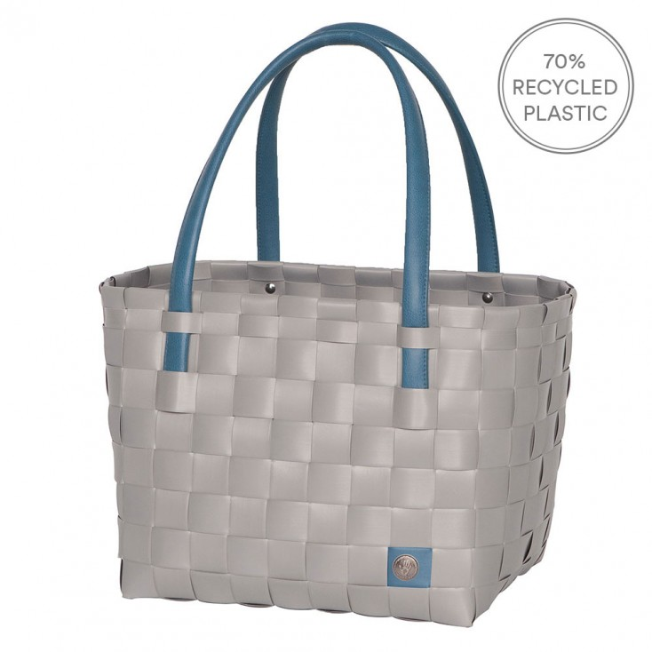 Handed By Colour Block Shopper - Brushed Grey