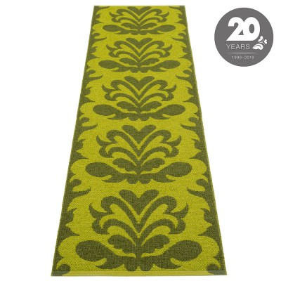 Pappelina Siri Runner - Dark Olive : Apple 70 x 250 cm