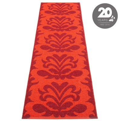 Pappelina Siri Runner - Dark Red : Coral Red 70 x 250 cm