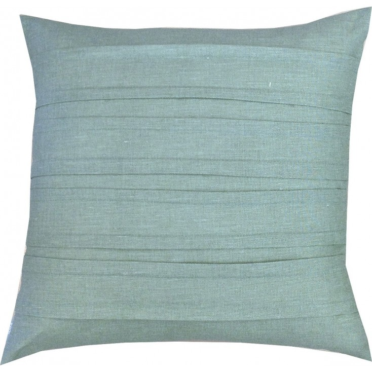 Spira Double Pleat Duck Egg Cushion