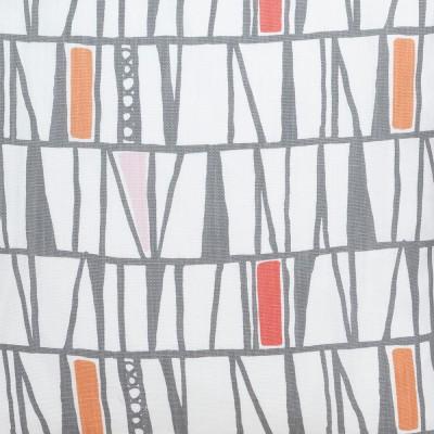 Scandinavian Fabric - Spira Mosaik Orange