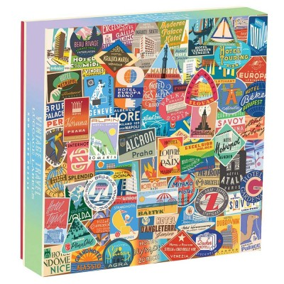 Vintage Luggage Travel Labels 500 Piece Puzzle