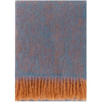 Lapuan Kankurit Revontuli Mohair Blanket - Denim & Rust