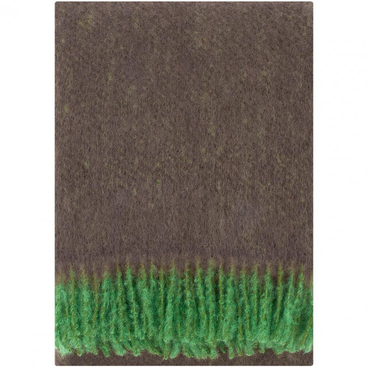 Lapuan Kankurit Revontuli Mohair Blanket - Brown & Green