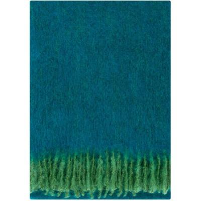 Lapuan Kankurit Revontuli Mohair Blanket - Petrol & Green