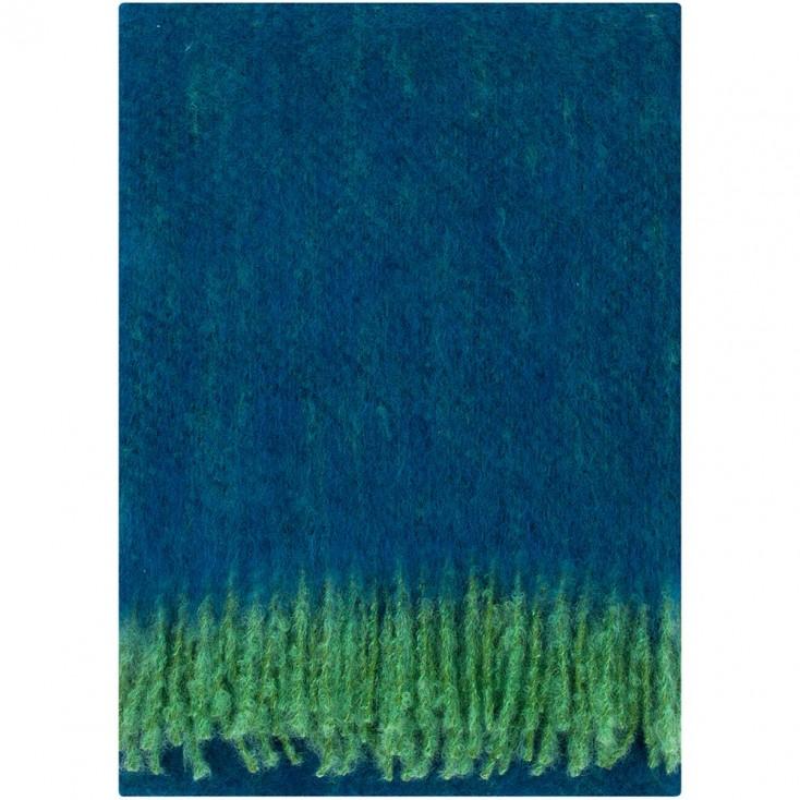 Lapuan Kankurit Revontuli Mohair Blanket - Blueberry & Green