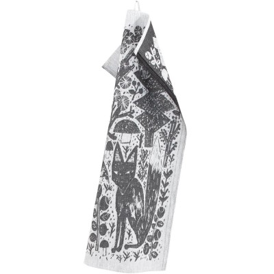 Lapuan Kankurit Metsikkö Tea Towel - Black
