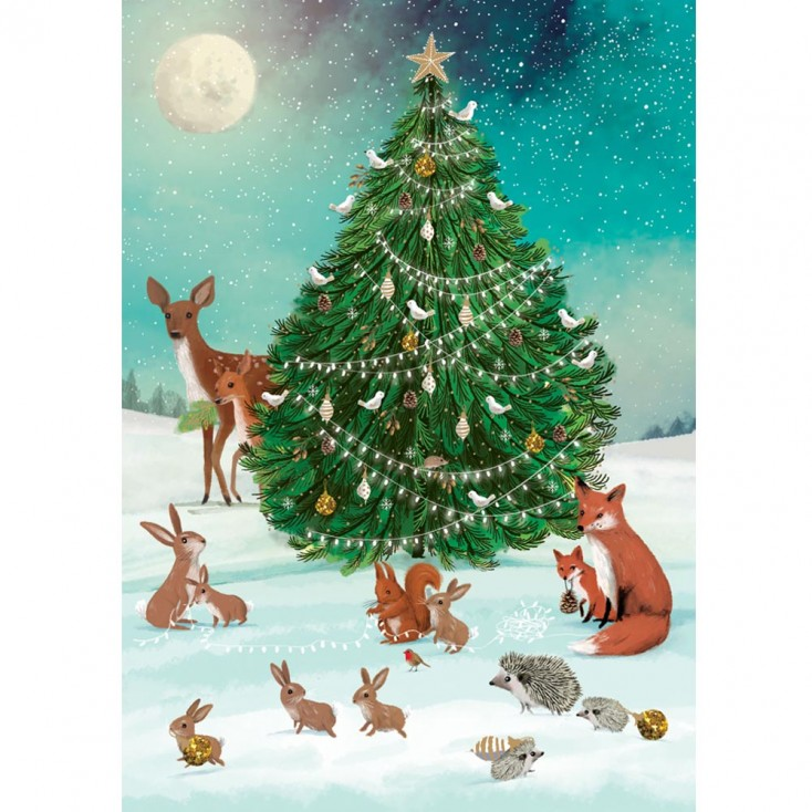 Festive Forest Christmas Card - Pack of 5