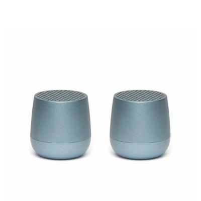 Lexon TWIN MINO Pairable Bluetooth Speakers - Light Blue
