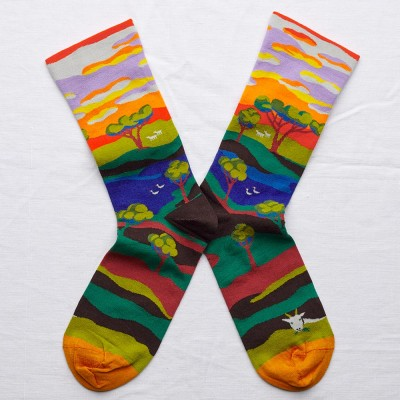 Bonne Maison Socks - Multi Tree
